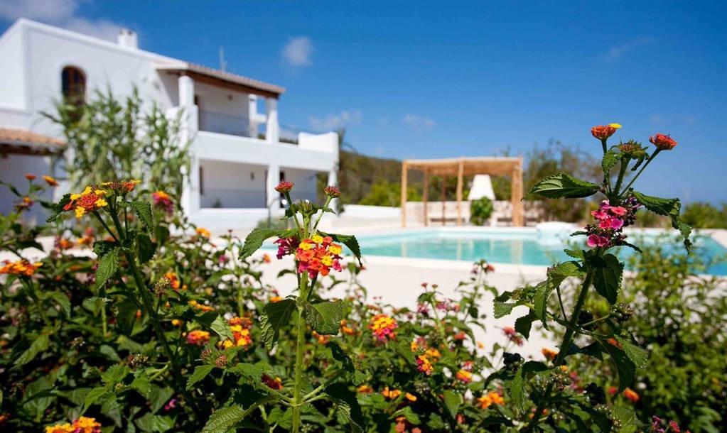 Finca Big Wooden Beams Outdoor Area Ibiza