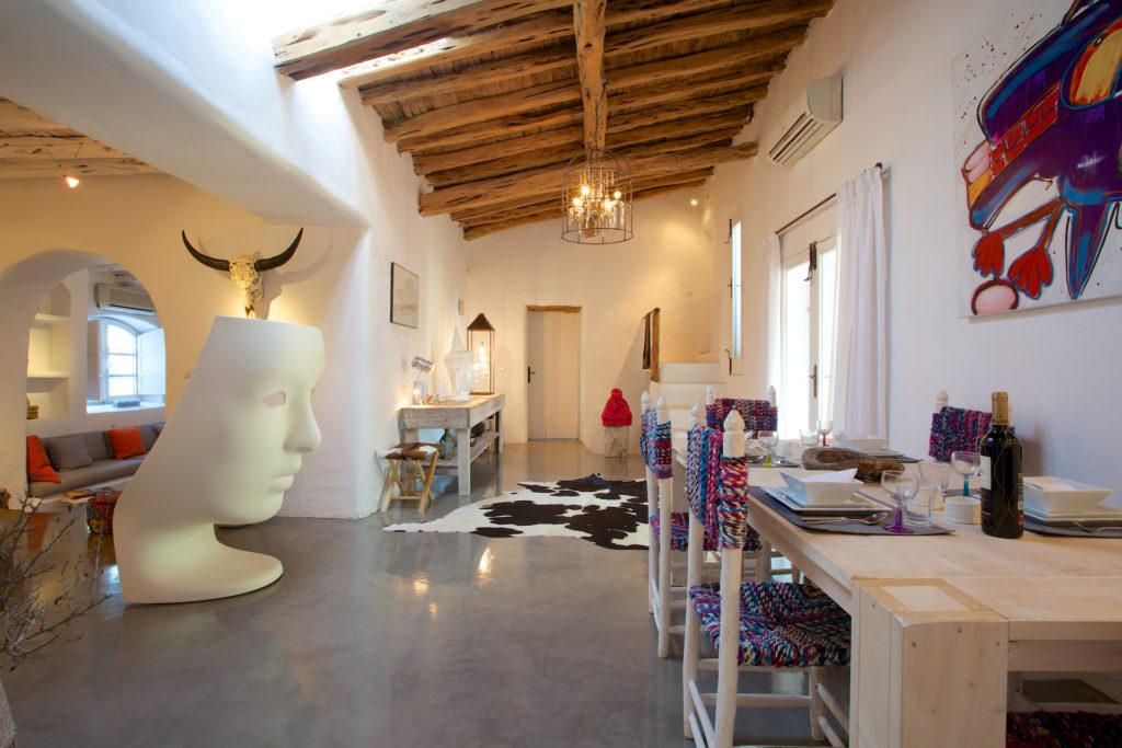 Finca Ibiza Rent Cala Tarida Living Room Art