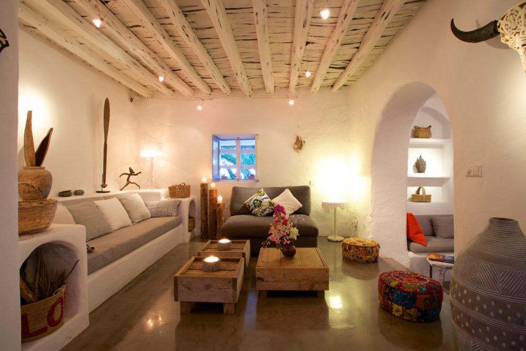 Finca Ibiza Rent Cala Tarida Living Room Lounge