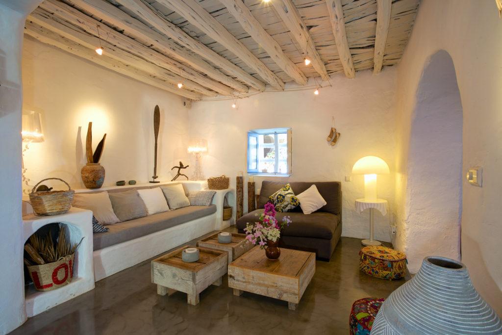 Finca Ibiza Rent Cala Tarida Living Room Lounge Area