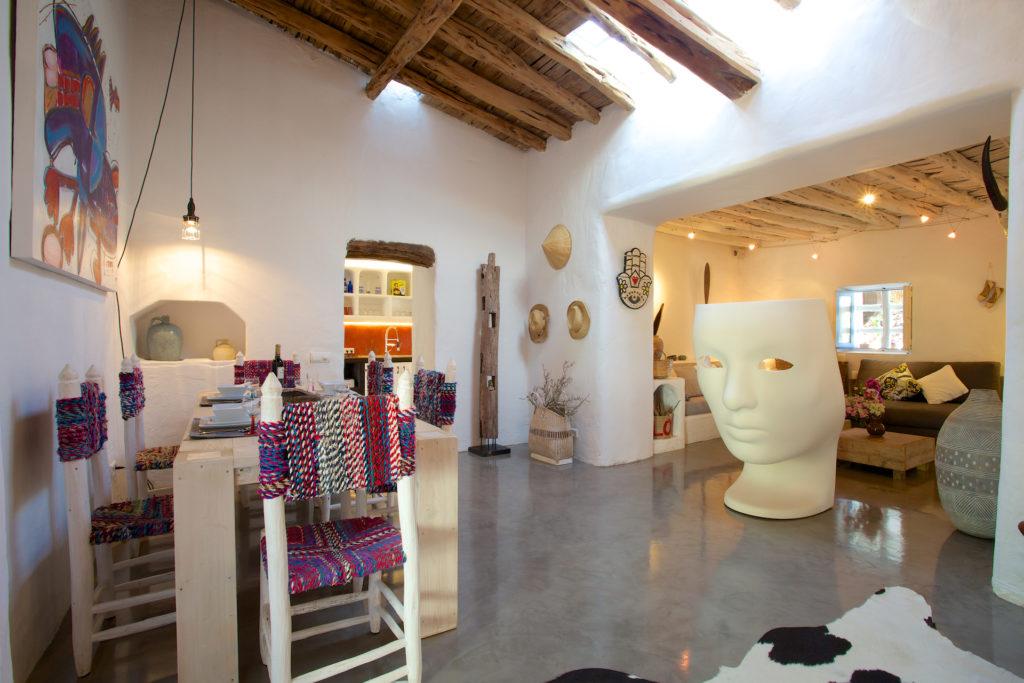 Finca Ibiza Rent Cala Tarida Living Room Modern