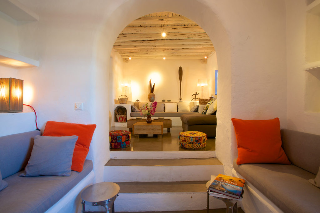 Finca Ibiza Rent Cala Tarida Lounge Area Lights