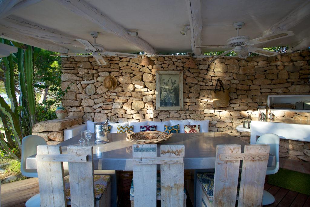 Finca Ibiza Rent Cala Tarida Terrace Outside