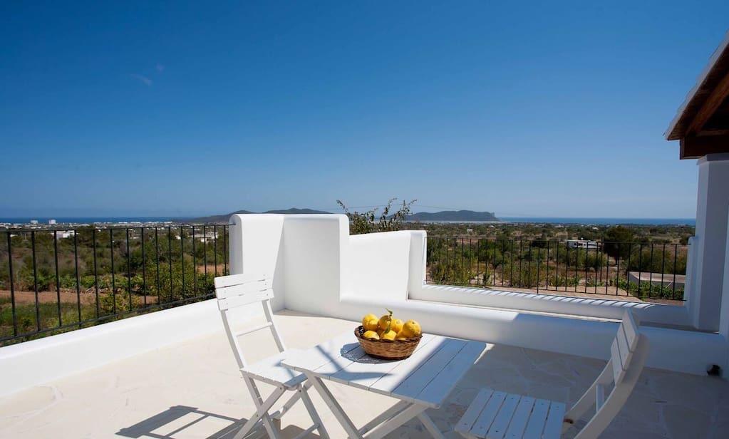 Finca Living Area Rustic Beautiful Outdoor Ibiza Sea View Terrace