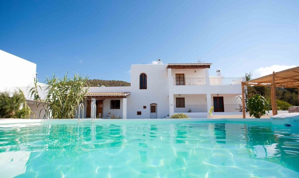 Finca Living Area Rustic Pool Beautiful Exterior Ibiza Big Wooden Beams