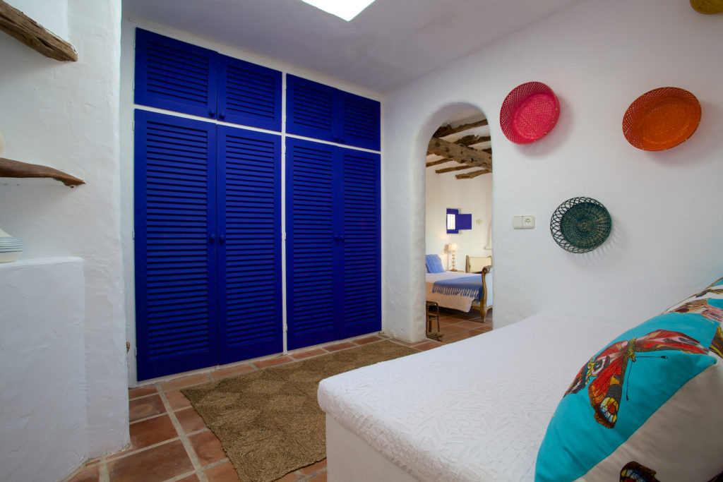 Finca Special Traditional Ibiza White Quirky Blue Cupboards