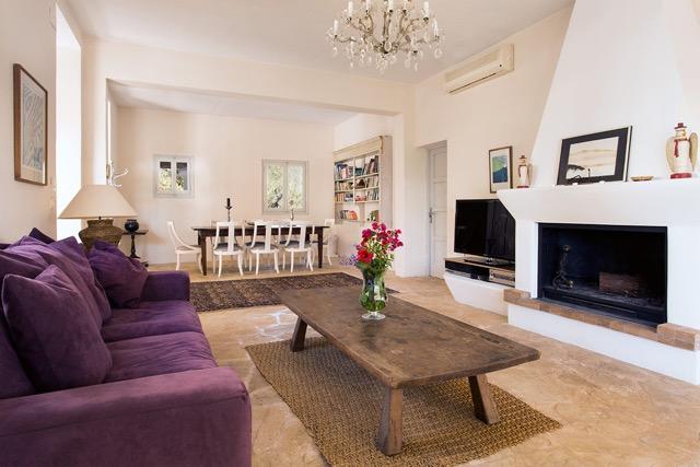 Finca Style Iviba Villa Purple Sofa Stunning