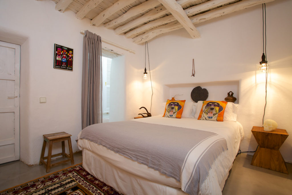 Finca White Wooden Quirky Beams Tiger Bed Special Traditional Ibiza