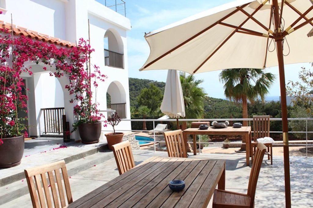Flowers Prettywhite Villa Ibiza Dining Table Sun Shade Villa Ibiza