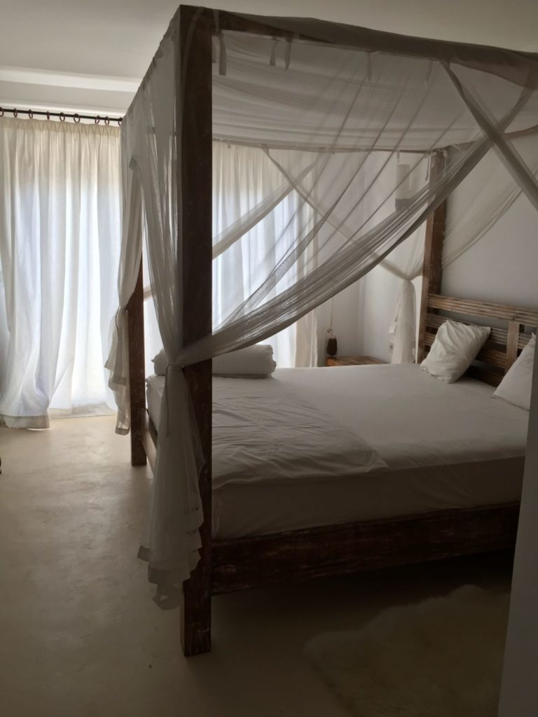 Four Poster Drapes Bed Ibiza Villa Bedroom