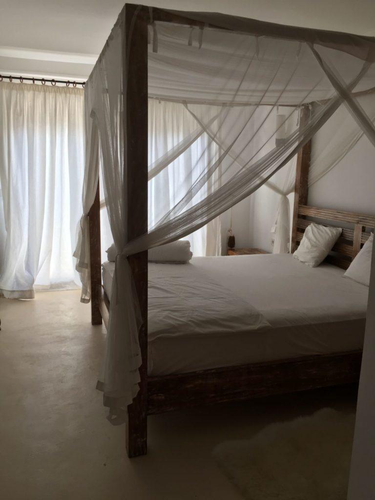 Four Poster Drapes Bed Ibiza Villa Bedroom
