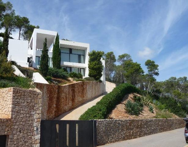 Garden Wall To Wall Window Chic White Stunning Ibiza Villa