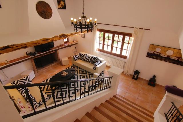 Grand Stairwell Villa Ibiza Chandelier