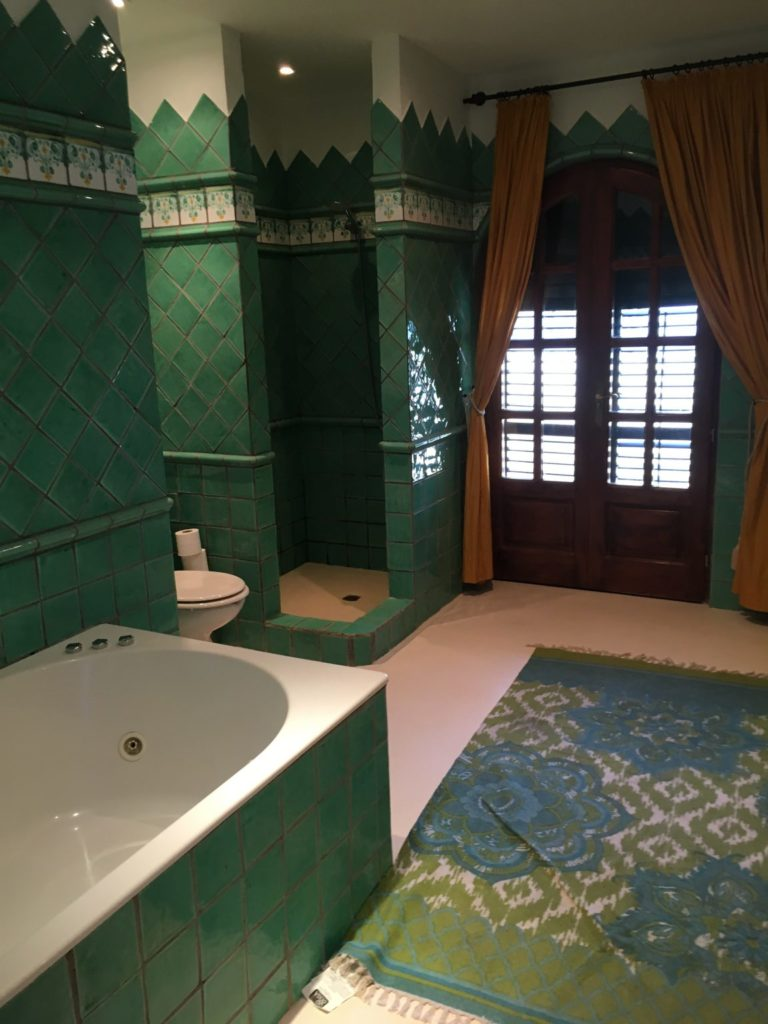 Green Bathroom Curtains Ibiza Villa Carpet