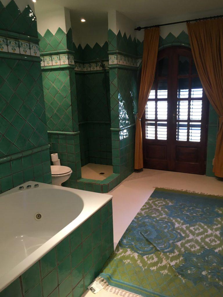 Green Bathroom Curtains Ibiza Villa Carpet