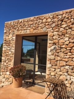 Guest House Front View With Huge Windows Cala Jondal Ibiza Villa Gorgeous
