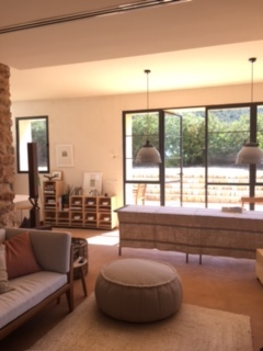 Guest House Villa Ibiza Modern Chic Interior Sitting Room Sofa