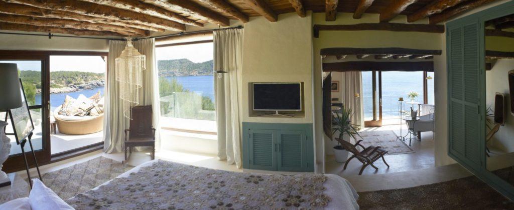 Holiday Villas Ibiza Master Bedroom Sea View