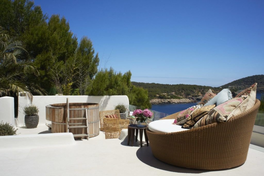 Holiday Villas Ibiza Master Bedroom Terrace