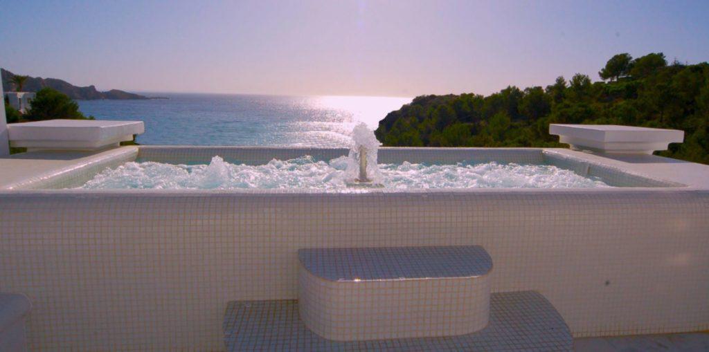 Hot Tube Cala Jondal Ibiza Sea View Mediterranean Villa