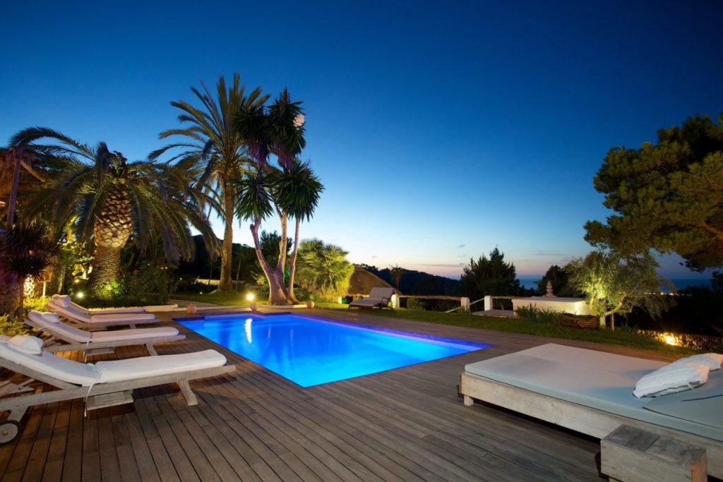 Ibiza Finca Rental Rent Pool At Night