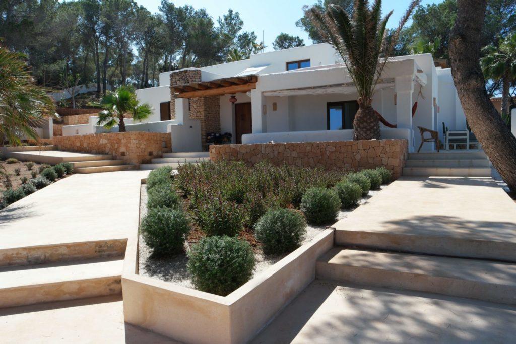 Ibiza Plants Rustic Villa Steps Entrance