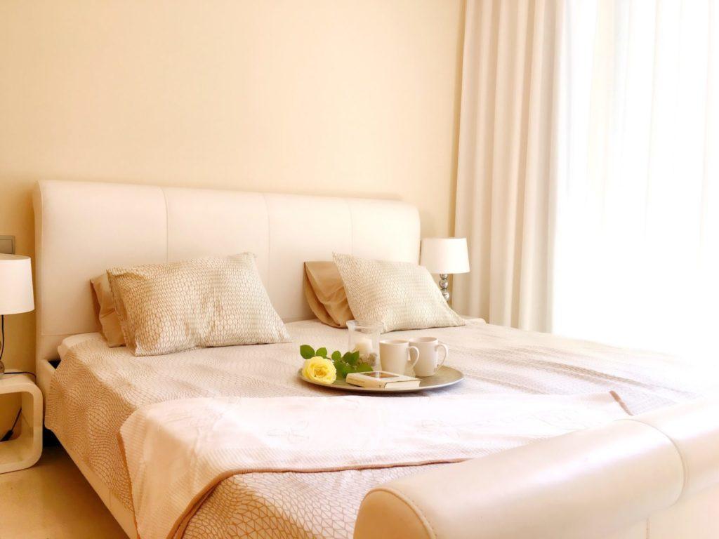 Ibiza Private Villas Villa Esteban Cream Colour Bedroom