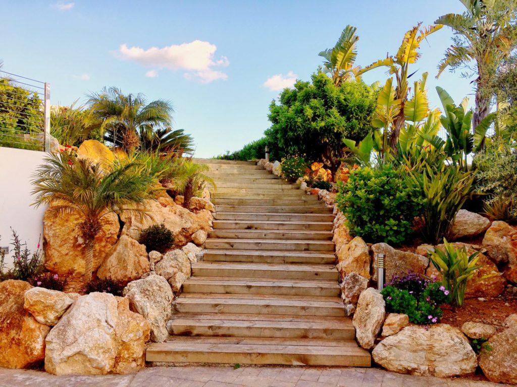 Ibiza Private Villas Villa Esteban Outside Stone Stairs