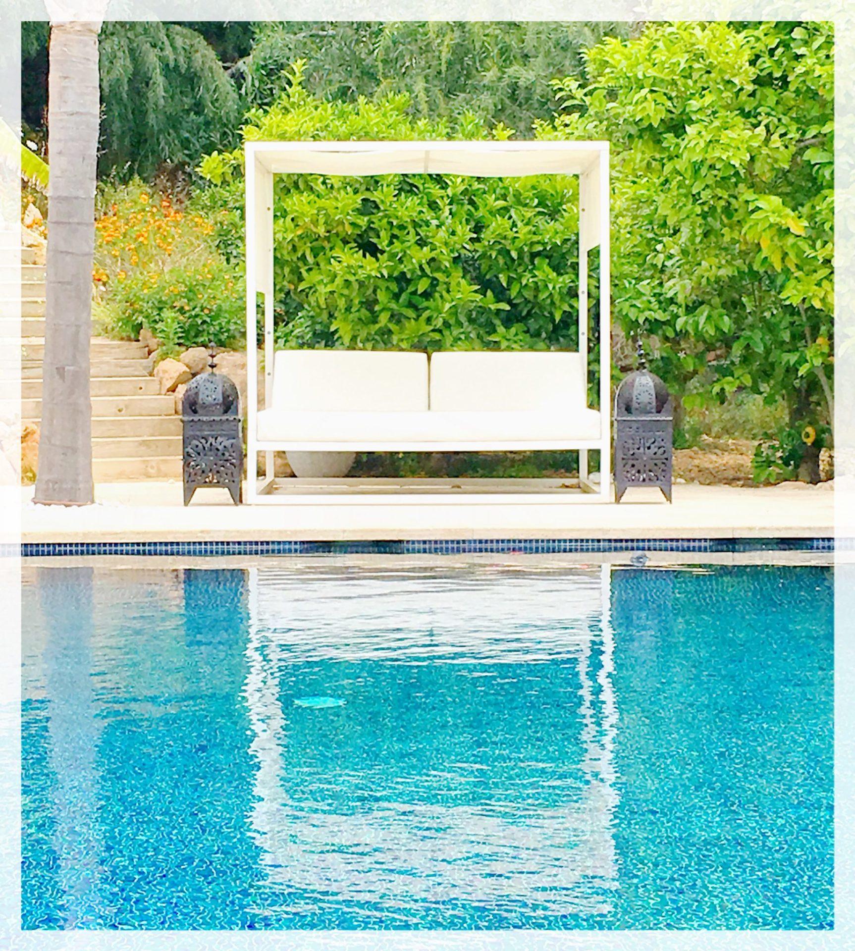 Ibiza Private Villas Villa Esteban Pool Chill Out Area
