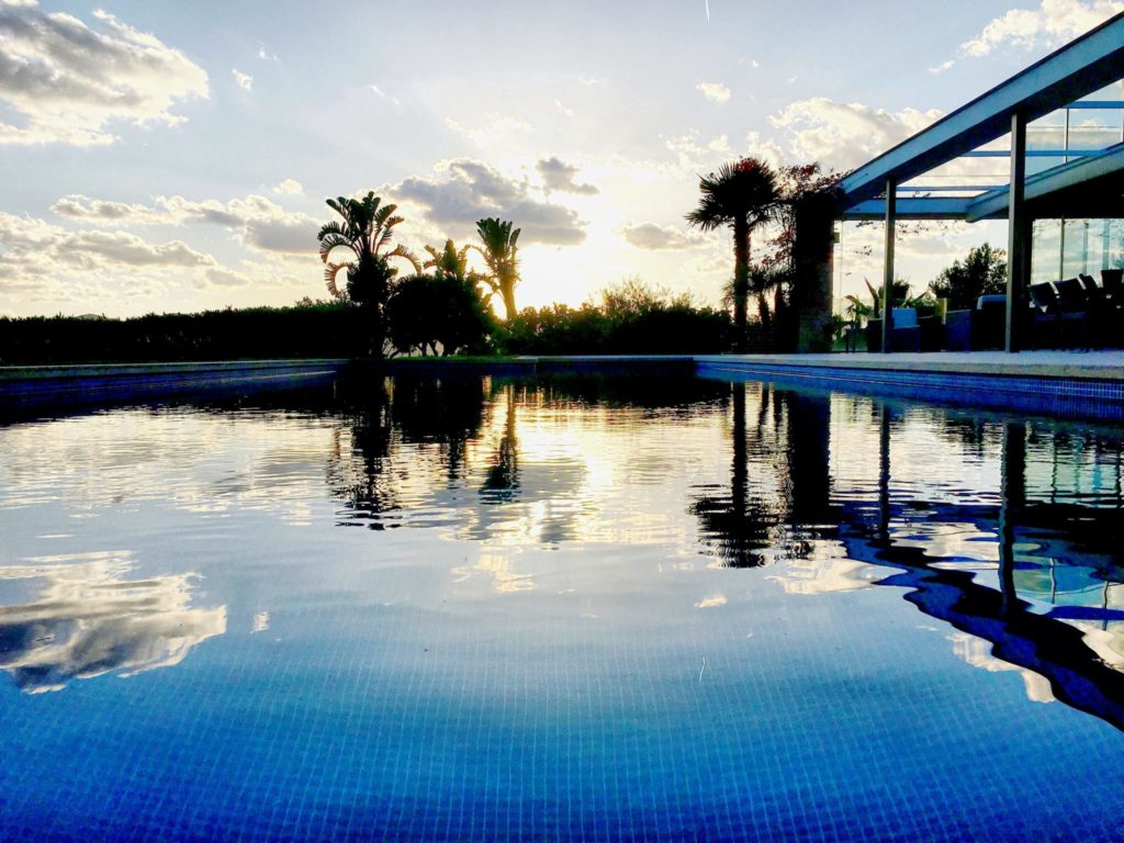 Ibiza Private Villas Villa Esteban Pool Sunset