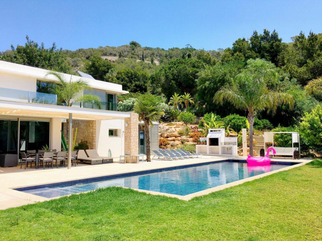 Ibiza Private Villas Villa Esteban Poolside Area