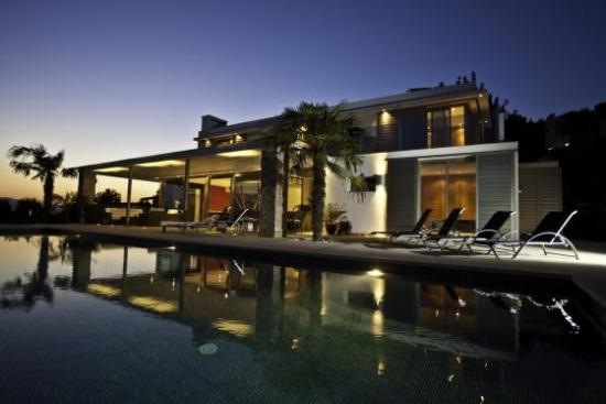 Ibiza Private Villas Villa Esteban Poolside At Night Lights