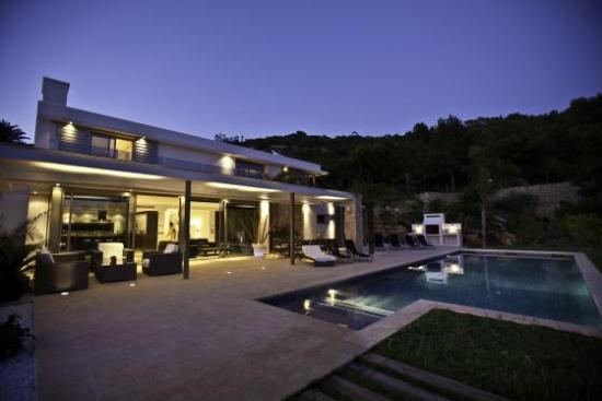 Ibiza Private Villas Villa Esteban Poolside At Night