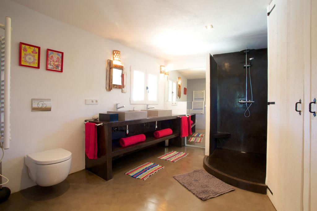 Ibiza Villa Bathroom Dark Wood