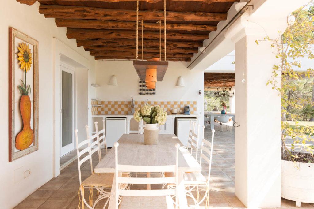 Ibiza Villa Finca Cosy Charming Stunning Luxury Character Modern Art Dining Room