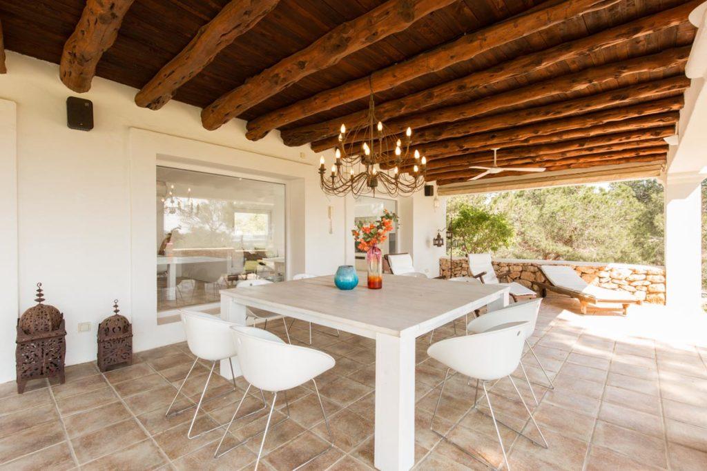 Ibiza Villa Finca Cosy Charming Stunning Luxury Character Modern Art Outdoor Dining Area