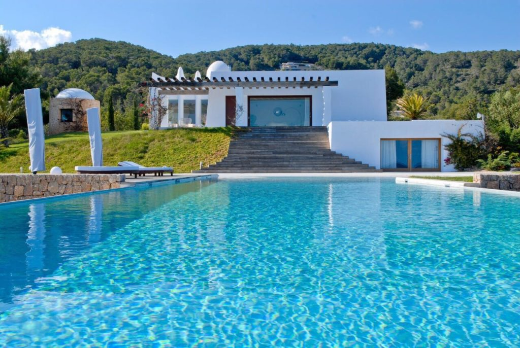 Ibiza Villa Large Blue Swimming Pool