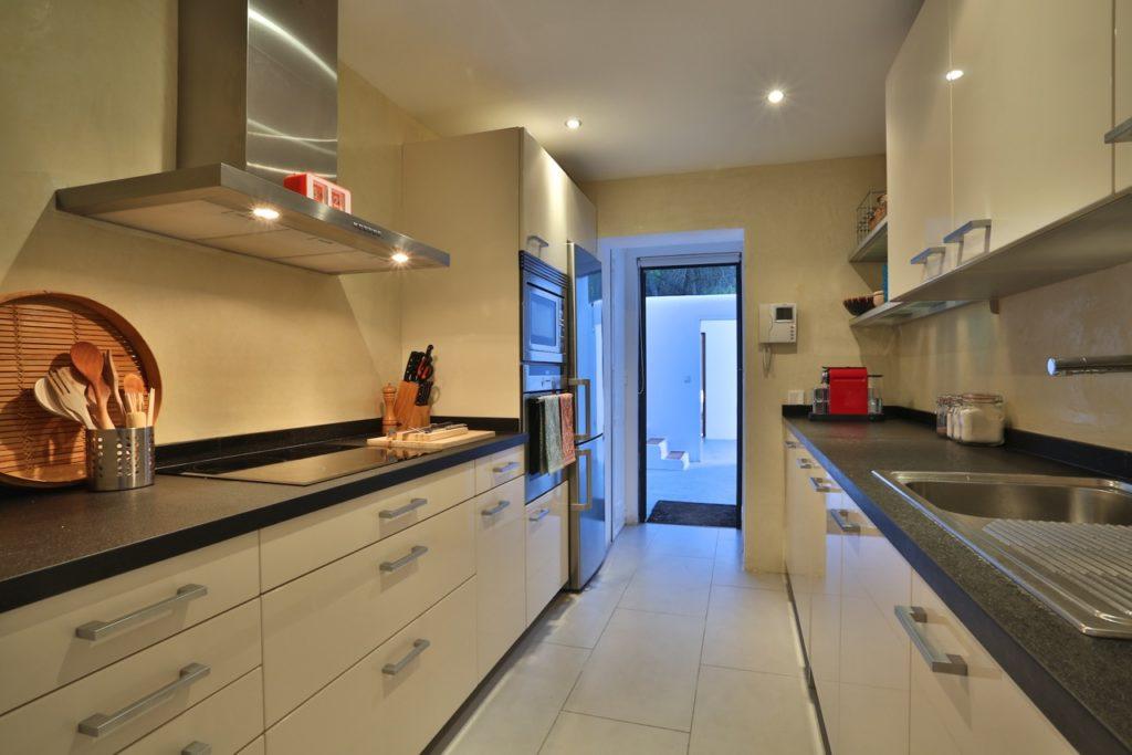 Ibiza Villa Pool Beautiful Modern Interior Kitchen White
