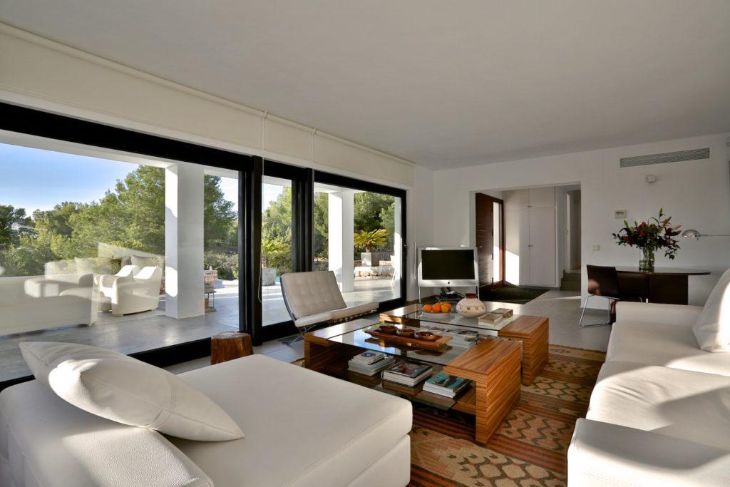 Ibiza Villa Pool Beautiful Modern Interior Living Room