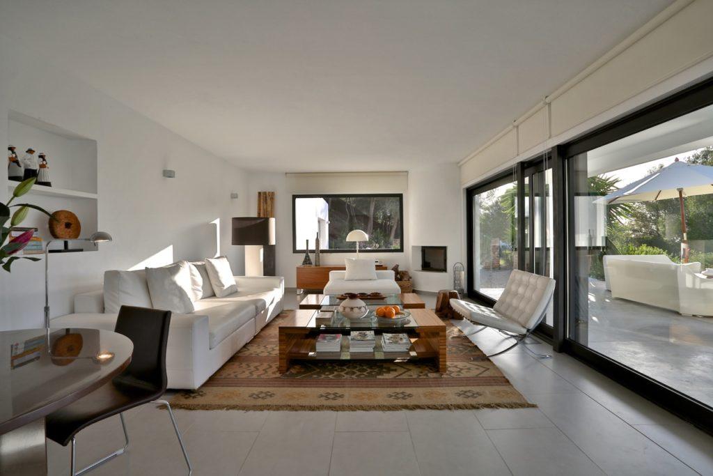 Ibiza Villa Pool Beautiful Modern Interior Living Room White