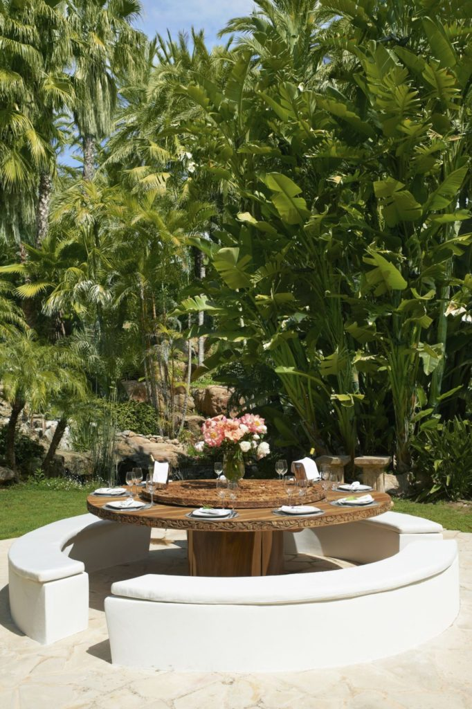 Ibiza Villa Rentals Luxury Blue Bay Pool Al Fresco Dining Falls