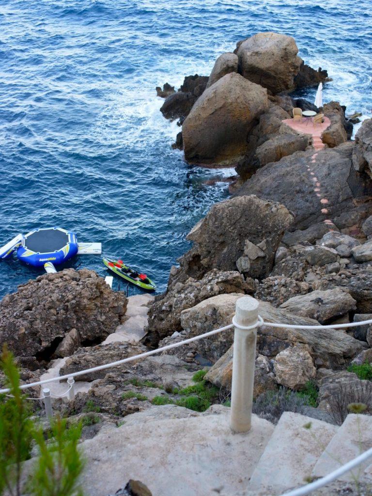 Ibiza Villa Rentals Luxury Blue Bay Private Step Access To Sea