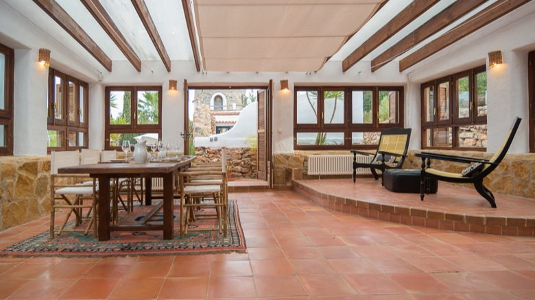 Ibiza Villa Rustic Traditional Finca Spacious Living Area