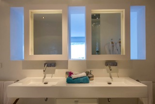 Ibiza Villas Direct Porroig Double Sink Bathroom