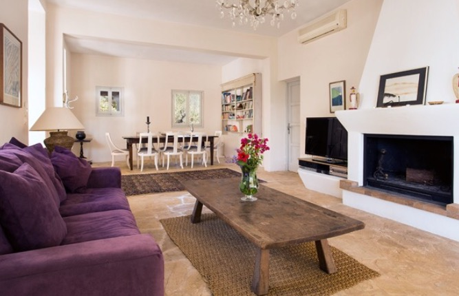 Interior Villa Ibiza Finca Style Rustic Beautiful Cosy Living Room