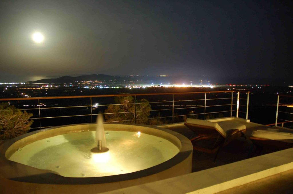 Jacuzzi Night Moon Ibiza Villa Unique Luxury