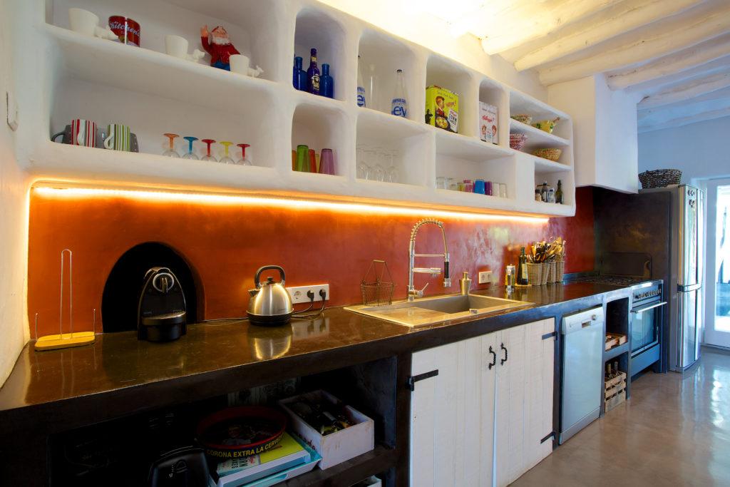 Kitchen Bright Funky Ibiza Villa
