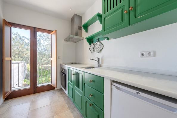 Kitchen Green Ibiza Villa