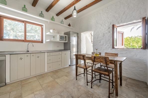 Kitchen Inside Villa Ibiza
