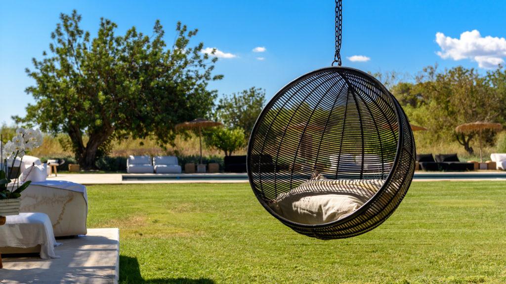 Lights Garden Exterior Amigos Los Pool Villa Ibiza Hanging Seat Basket
